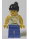 Minifig No: par055  Name: Island with Palm and Sun - Blue Legs, Black Ponytail Hair