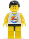 Minifig No: par058  Name: Surfboard on Ocean - Yellow Legs, Black Male Hair