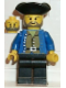 Minifig No: pi033  Name: Pirate Brown Shirt, Black Legs, Black Pirate Triangle Hat