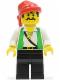 Minifig No: pi051  Name: Pirate Green Vest, Black Legs, Red Bandana