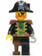 Minifig No: pi055  Name: Captain Red Beard with Pirate Hat with Skull