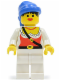 Minifig No: pi056  Name: Pirate Female, White Legs, Blue Bandana