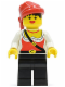 Minifig No: pi057  Name: Pirate Female, Black Legs, Red Bandana