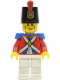 Minifig No: pi087  Name: Imperial Soldier II - Shako Hat Printed, Cheek Lines