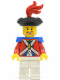 Minifig No: pi089  Name: Imperial Soldier II - Officer with Red Plume, Brown Beard