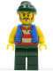Minifig No: pi099  Name: Pirate Blue Vest, Dark Green Legs, Dark Green Bandana, Long Brown Moustache