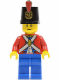 Minifig No: pi135  Name: Imperial Soldier II - Shako Hat Printed, Blue Legs, Male