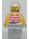 Minifig No: pi160  Name: Pirate 2 - Red and White Stripes, Light Bluish Gray Legs, Beard