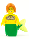 Minifig No: pi184  Name: Mermaid - Green Tail