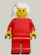 Minifig No: pln101  Name: Plain Red Torso with Red Arms, Red Legs, White Pigtails Hair
