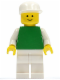 Minifig No: pln135  Name: Plain Green Torso with White Arms, White Legs, White Cap