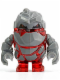 Minifig No: pm003  Name: Rock Monster - Meltrox (Trans-Red)