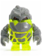 Minifig No: pm005  Name: Rock Monster - Sulfurix (Trans-Neon Green)