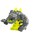 Minifig No: pm015a  Name: Rock Monster Large - Geolix (Trans-Neon Green) - 2 Crystals
