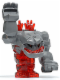 Minifig No: pm016  Name: Rock Monster Large - Tremorox (Trans-Red)