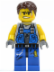 Minifig No: pm017  Name: Power Miner - Orange Scar, Hair