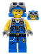 Minifig No: pm022  Name: Power Miner - Rex, Goggles