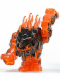 Minifig No: pm029  Name: Rock Monster Large - Eruptorr  (Trans-Orange)