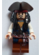 Minifig No: poc024  Name: Captain Jack Sparrow with Tricorne and Blue Vest