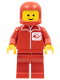 Minifig No: post002  Name: Post Office - Red Legs, Red Classic Helmet