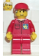 Minifig No: post003  Name: Post Office Blue Background Logo, Red Legs, Red Cap