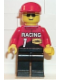 Minifig No: rac002  Name: Racing Team 1, Red Cap
