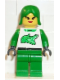 Minifig No: rac006  Name: Race - Green, Green Female Hair