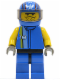 Minifig No: rac007  Name: Racer Driver, Nitro