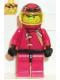 Minifig No: rac014  Name: Racer Driver, Nitro Flash