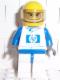 Minifig No: rac018s  Name: F1 Williams Team Racer - with Torso Sticker