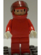 Minifig No: rac022  Name: F1 Ferrari - M. Schumacher with Helmet - without Torso Stickers