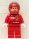 Minifig No: rac022s  Name: F1 Ferrari - M. Schumacher with Helmet - with Torso Stickers