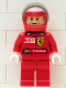 Minifig No: rac023as  Name: F1 Ferrari - R. Barrichello with Helmet Decorated - with Torso Stickers