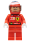Minifig No: rac023bs  Name: F1 Ferrari - F. Massa with Helmet Decorated - with Torso Stickers