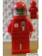 Minifig No: rac024bs  Name: F1 Ferrari Driver with Helmet and Balaclava - with Torso Stickers on Front and Back