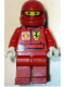 Minifig No: rac025bs  Name: F1 Ferrari Pit Crew Member - with Shell Torso Stickers