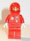 Minifig No: rac025cs  Name: F1 Ferrari Pit Crew Member - with Torso Stickers on Front and Back (8185)