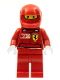 Minifig No: rac025s  Name: F1 Ferrari Pit Crew Member - with Vodafone Shell Torso Stickers