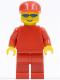 Minifig No: rac026  Name: F1 Ferrari Truck Driver - without Torso Sticker