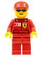 Minifig No: rac026s  Name: F1 Ferrari Truck Driver - with Torso Stickers