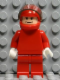 Minifig No: rac027  Name: F1 Ferrari - F. Massa with Helmet Red Plain (8672) - without Torso Stickers