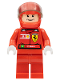 Minifig No: rac027s  Name: F1 Ferrari - F. Massa with Helmet Red Plain (8672) - with Torso Stickers