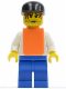 Minifig No: rac028  Name: F1 - Cameraman (8672) - Red Hair, Orange Vest without Stickers