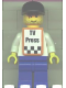 Minifig No: rac028as  Name: F1 - Cameraman - Brown Hair, Orange Vest with Stickers