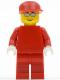 Minifig No: rac030a  Name: F1 Ferrari Engineer (8144) - without Torso Stickers, White Hands