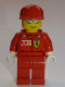Minifig No: rac030as  Name: F1 Ferrari Engineer - with Torso Stickers, White Hands