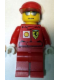 Minifig No: rac030bs  Name: F1 Ferrari Engineer (8144-2) - with Shell Torso Stickers, White Hands