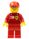 Minifig No: rac030s  Name: F1 Ferrari Engineer (8672) - with Torso Stickers
