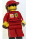 Minifig No: rac031bs  Name: F1 Ferrari Record Keeper - with Shell Torso Stickers