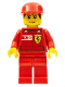 Minifig No: rac031s  Name: F1 Ferrari Record Keeper - with Vodafone Shell Torso Stickers